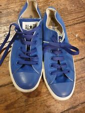Converse blue shoes. Size 6. Lace up. Great condition!