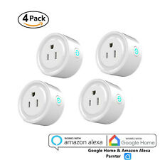 4 Units Us Plug WiFi Smart Socket Remote Timing Timer Switch Power Adapter App