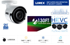 LOREX 2K 5MP Super High Definition IP Security Camera with Audio and Color NV
