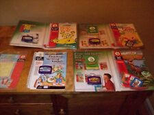 4 Leap Pad Cartridges and Books