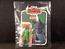 Vintage 1980 STAR WARS ESB GREEDO FIGURE & ORIGINAL RARE UNPUNCHED 32 BACK CARD