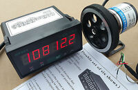 8'' inch Length Wheel + Encoder + Support + Counter Grating 0.1'' Display Meter