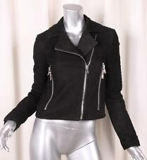 J BRAND Womens Black Leather Suede Moto Motorcycle Biker Jacket XS NEW NWT