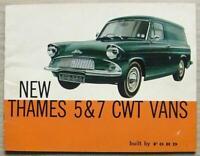FORD THAMES 5 & 7 CWT VANS Sales Brochure 1962 #T7342/662