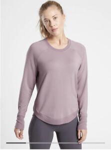Athleta Mindset Sweatshirt Flora Mauve Size Large #472751 Perfect!