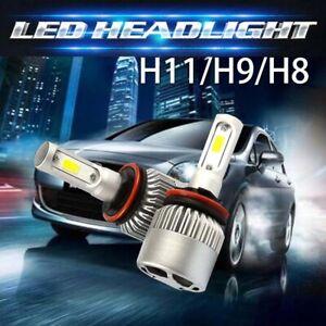 Pair H11 H9 H8 980W 147000LM LED Headlight Bulb Conversion COB kit 6000K White
