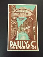 Pauly & C.ie Glass Manufacturing Italian Advertising 1939