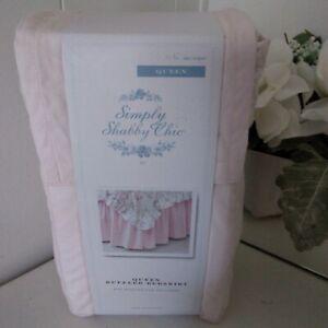 Simply SHABBY CHIC Queen Ruffle BedSkirt Pink 15 inch Drop Rachel Ashwell NEW
