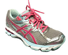 Asics GT-1000 Womens Pink Grey Sneakers Running Training Shoes Size 8/39.5