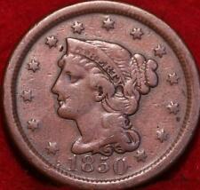 1850 Philadelphia Mint Copper Braided Hair Large Cent