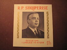 Albania Stamp Scott# 1190 Enver Hoxha 1968 Imperf. Souvenir Sheet MLH L11