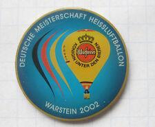 DEUTSCHE MEISTERSCHAFTEN WARSTEINER 2002  .......... Bier Ballon Pin (106a)