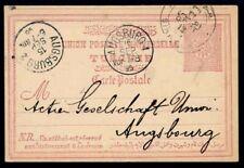 TURKEY 1895 UPU CARD TO GERMANY