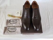 HARRIS-Firenze Men's Dark Brown Leather Oxford Shoes Size 10M