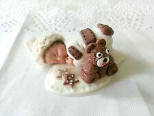 bomboniera sacchettino nascita baby cappellino uncinetto lana orsetto teddy