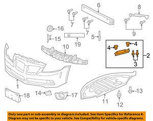 Pontiac GM OEM G8 Front Bumper Grille Grill-Outer Reinforcement Left 92159883