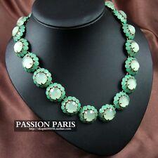Émeraude couleur vert 4mm round czech glass pearl poli perles x 25