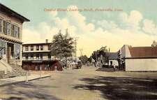 Forestville Connecticut Central Street Historic Bldgs Antique Postcard K29597