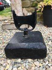 Original Antique Welsh Slate and Wrought Iron Boot Scraper