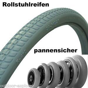 Rollstuhlreifen pannensicher viele Größen Rollstuhl Reifen Vollgummi, ohne Luft!