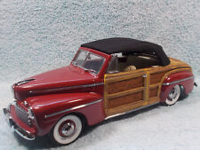 1/18 1946 FORD SPORTSMAN WOODY CABRIOLET IN MAROONBLACKREAL WOOD BY YAT-MING.