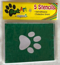 Blow Pen Stencils Espree Animal Products Bark Art for Pets 5 per package