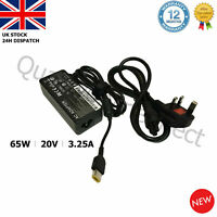 For Lenovo ADLX45NCC3A 3.25A Laptop Charger AC Adapter Rectangle USB 20V 65W