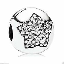 New Pandora Charm 791056cz You're a Star CZ Clip Box Included