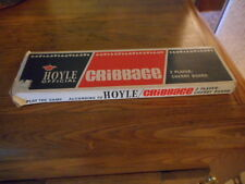 Vintage  Hoyle Official Cribbage  Board With Original Box