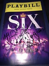 Six The Musical Broadway Full Cast Signed Broadway Playbill King Henry Queen