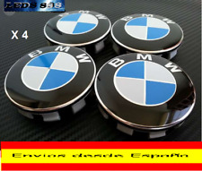 LOTE 4X TAPAS LLANTAS RUEDA TAPABUJES BMW 68MM EMBLEMA BMW MOD SERIES 1 3 5 6 7