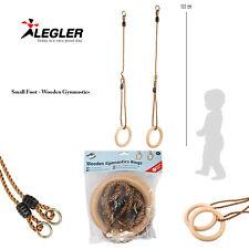 Legler Small Foot Childrens Adjustable Tough Wooden Outdoor Gymnastics Rings
