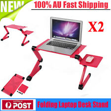 2 Pieces Cozy Desk Portable Adjustable Laptop Table Stand for Bed Sofa Dining