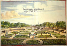 Gravure Kupferstich Print Caspar MERIAN Topographia Galliae Jardin du Luxembourg