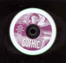 Gothic DVD Movie Lord Byron Mary Shelley Frankenstein Book Writing Film  NO CASE