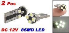 2pc T10 8 SMD Canbus LED Side Marker Light Bulb White 2825 2827 168 194 W5W