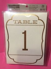 CELEBRATE IT Table Number Tent Ivory Gold 1-20 Shower Wedding Party Centerpiece