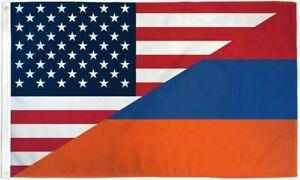 Armenian American Friendship Flag 3x5 ft Combination Armenia US USA America 100D