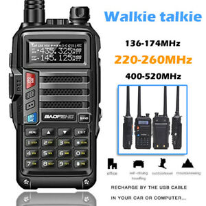 Baofeng UV-S9 Tri-band Walkie Talkies Two-way Radio VHF UHF Long Range+Hand Mic