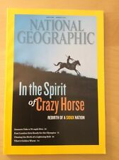 "NATIONAL GEOGRAPHIC VOL 222 AUGUST 2012, ""IN THE SPIRIT OF CRAZY HORSE"""