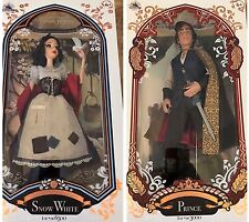 Disney Store 2017 SNOW WHITE (6500) & PRINCE CHARMING (3500) Limited Dolls