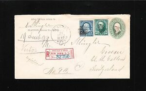 Slayton MN Registered 1897 Bureau 1c 10c 5c Added in NY Switzerland Cover PSE 2t
