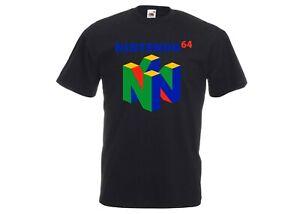 Nintendo / N64 Retro Console Logo 90s Video Games/ Gamer Gaming Novelty T-Shirt