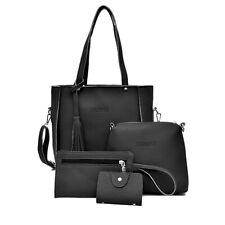 4PC/Set Women Lady Leather Handbag Shoulder Tote Purse Satchel Messenger Bag