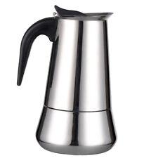 Moka Induction Italian Stove-Top Espresso Coffee Maker 4 Cup Coffee Pot