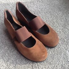 Riva Brown Leather Wedge Heel Shoes UK 4
