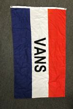 "Vans Shoes Off The Wall Red White & Blue Flag wall Banner 59""x35"" Factory Fresh"