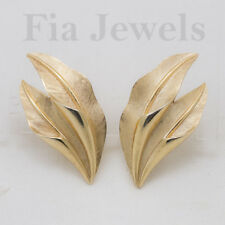 ORECCHINI Trifari a clips anni 50 foglie oro EARRINGS Trifari vintage 50 clips