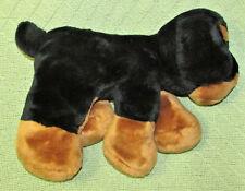 "12"" COMMONWEALTH DOBERMAN PINSCHER PLUSH FLOPPY DOG STUFFED ANIMAL BLACK TAN TOY"