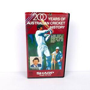 200 Years Of Australian Cricket History - VHS Video - FREE POST